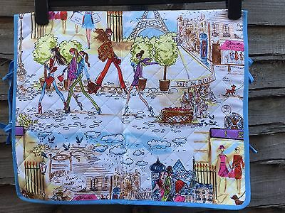Quilted Paris Themed Sewing Machine Cover Bn