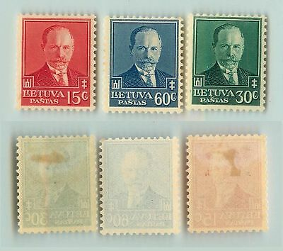 Lithuania, 1934, SC 283-285, mint. d9564