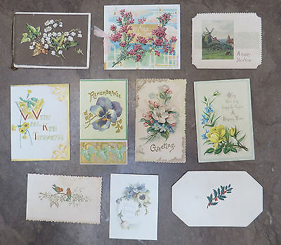C5227 10 Small Victorian Folding Greetings Cards