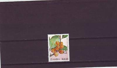 a129 - ZAMBIA - SG675 MNH 1991 SURCH 2k ON 6k.50 FRUIT - CV £42.00