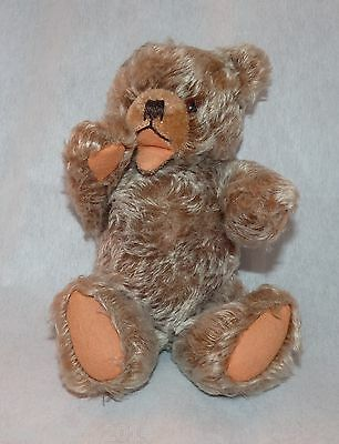 Hermann Zotty Brown Sitting Up Vintage Bear  With Sqeaky Tummy - Vgc