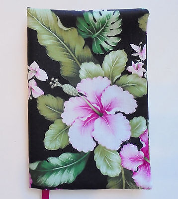 FABRIC Paperback Book Cover Standard Paperback Book Hibiscus Floral Flower