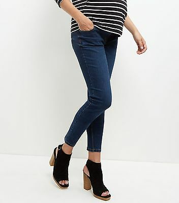 New Look Navy Maternity Pregnancy Skinny Jeans Denim Smart Trousers Size 10 - 20