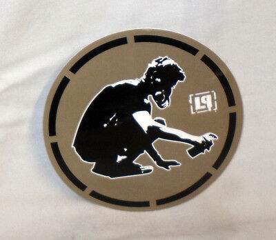 RARE Vinyl STICKER Decal LINKIN PARK Circular Graffiti Artist BROWN S2683 10cm