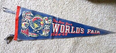 1964-65 New York World's Fair Felt Pennant - Vintage - Original