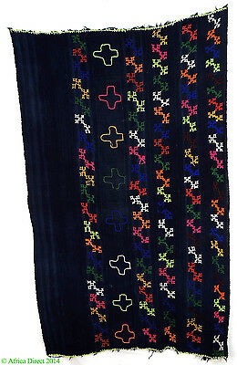 Dogon Indigo Textile with Embroidered Designs Mali African Art SALE WAS $295