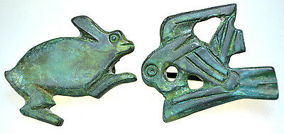 Lot of two Roman Bronze Zoomorphic Brooches