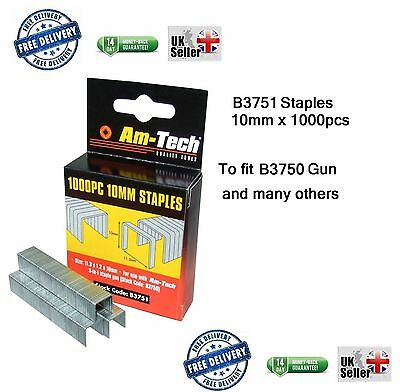 Heavy Duty 1000pc 10mm Staples B3751 Gun Upholstery New box office wall