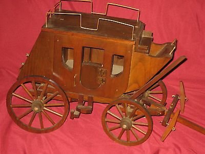 Antique Primitive Wood Stage Coach Hand Made