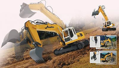 Remote Control Excavator Digger J-Matic Multi 6+2 Channel RTR Lights 2.4GHz 1:20