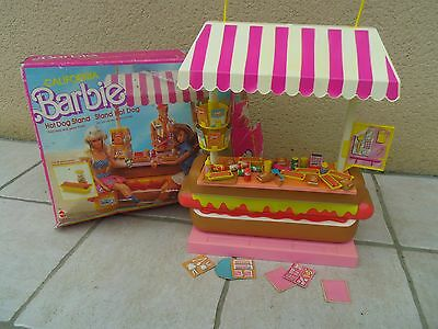 Hot Dog Stand Barbie Mattel vintage année 87