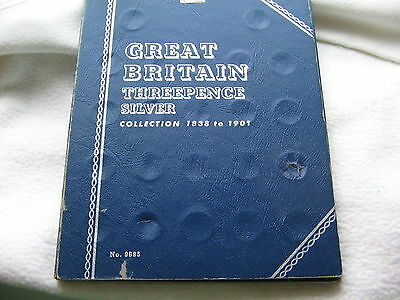 WHITMAN FOLDER FOR GB SILVER THREE PENCE 1838-1901 Free UK post