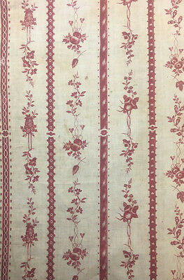 Antique Beautiful 18th C French Cotton Block Print (9988)