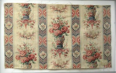 Antique Beautiful  Late 19th C. French Chinoise Print on Linen (9480)