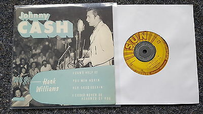 Johnny Cash sings Hank Williams/ I can't help it US 7'' EP Single