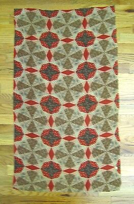 Antique Beautiful 19th C. Cheater Quilt Cotton Printed Fabric  (9984)