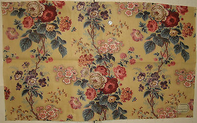 Beautiful Early 20th C. French Floral Cotton Print Fabric (8748)
