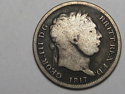 1817 Great Britain Shilling (.925 Silver). George III.  #15