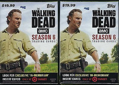 (2) 2017 Topps Walking Dead Season #6 Trading Cards Retail 61ct Blaster Box LOT