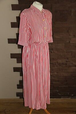 vintage 90s Mandy Marsh white red striped salior dress size 10-12
