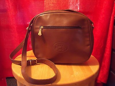 Vintage 1980's Original Calesa Spain Leather Shoulder Bag - Mid Brown