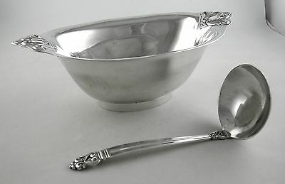 Sterling International ROYAL DANISH gravy boat and ladle