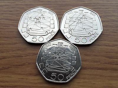 1992 1993 50p Rare EEC Brilliant Uncirculated Coin Royal Mint dual date 50 Pence