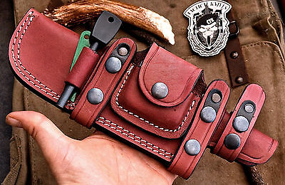 CFK USA Custom Horizontal RIGHT HAND High-Quality Leather Pouch Knife Sheath