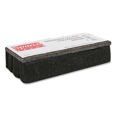 Sparco All Felt Chalk Board Eraser - Dustless - Black - Felt (SPR1)