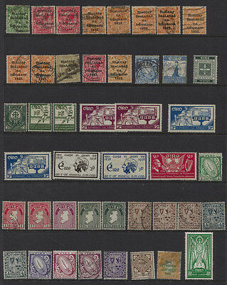 Ireland 1922 - 1940's Page of MH / Used CV $130+