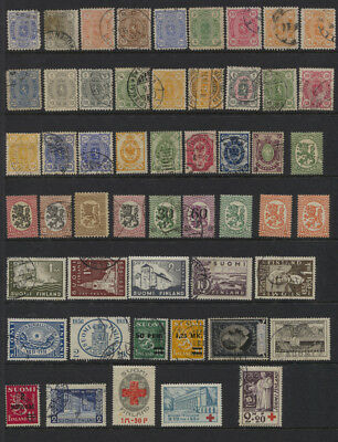 Finland Page of MH / Used With Lions, Semi Postals Etc CV $143