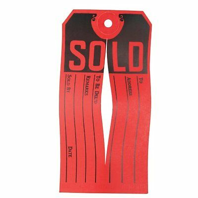 Avery Sold Tag - 500/box - Red, Black (AVE15161)