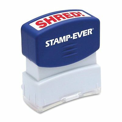 """U.s. Stamp & Sign Pre-inked Stamp - Shred Message Stamp - 0.56"""" X 1.69"""" - Red"""
