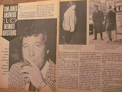 Tom Jones, Two Page Vintage Clipping