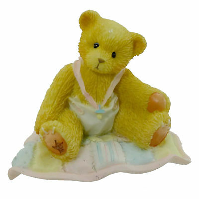 Cherished Teddies A GIFT TO BEHOLD Resin Girl Baby Quilt 599352