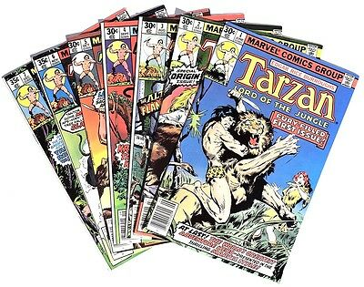 S988. TARZAN #1-15 by Marvel 7.0 FN/VF (1970's) RUN OF 15, NEAL ADAMS Covers ]