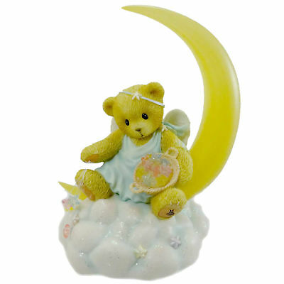 Cherished Teddies SKYE Resin Moon Stars Teddy Bear Cloud 4004801