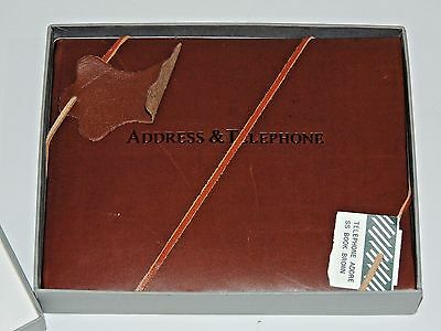 """Brand New High Quality Genuine Leather Address And Telephone Book 8"""" X 6.5"""""""