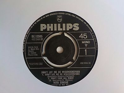 "Nina Simone Don't Let Me Be Misunderstood 1964 7"" Vinyl Single"