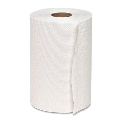 "Genuine Joe Hardwound Roll Towel - 12 / Carton - 7.88"" X 350 Ft - White"