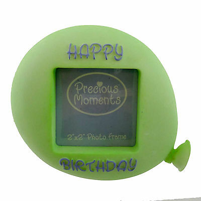 Precious Moments BIRTHDAY BALLOON Resin Photo Frame 634032 GREEN