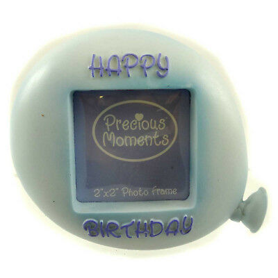 Precious Moments BIRTHDAY BALLOON Resin Photo Frame 634032 BLUE