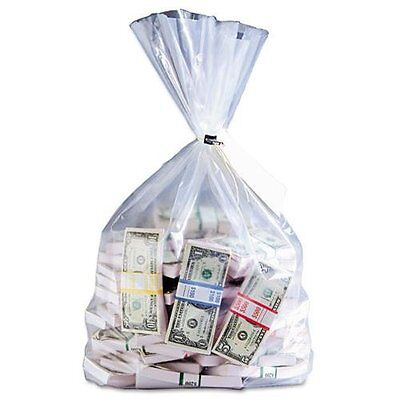 "Mmf Currency Deposit Bags - 12"" X 20"" - Polyethylene - 100/box - Clear"