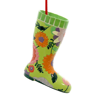 Holiday Ornaments GARDEN BOOT ORNAMENT Polyresin Resin Gardening Grow A1388