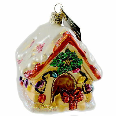 Old World Christmas DOG HOUSE Blown Glass Christmas Ornament 20023