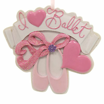 Holiday Ornaments I LOVE BALLET ORNAMENT Polyresin Dance Resin D2240