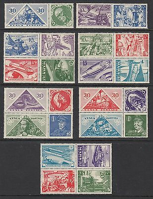 MARS AND VENUS INTERPLANETARY POSTAGE - 24 Cinderella labels, Mint Never Hinged