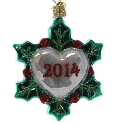 Old World Christmas HOLIDAY HEART Glass 20147 Dated Romance 30035