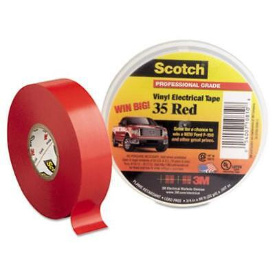 "3m 10810 Scotch 35 Vinyl Electrical Color Coding Tape, 3/4"" X 66ft, Red"