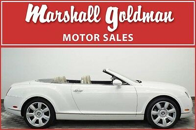 2007 Bentley Continental GT GTC Convertible 2-Door 2007 Bentley Continental GTC Arctica  Light Beige over Navy lth only 32,500 mi